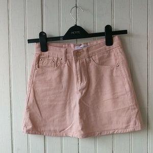 Dresses & Skirts - Pink high waist Jean skirt